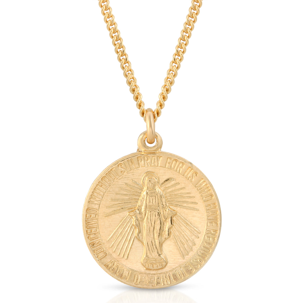 VIRGAN MARIA GOLD NECKLACE
