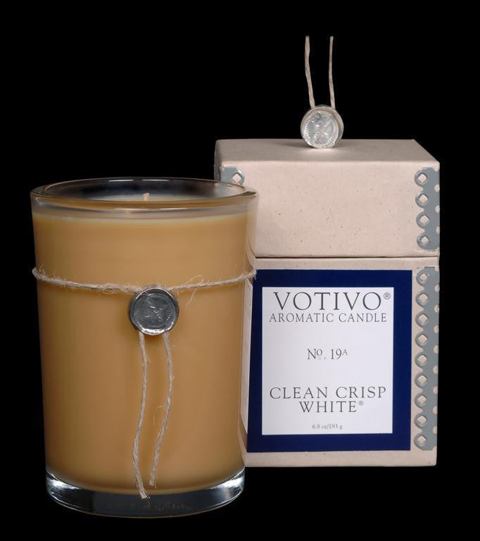 Votivo Candle- #19 Clean Crisp White
