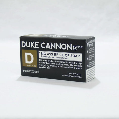 Duke Cannon Big Ass Soap:  Black Bar