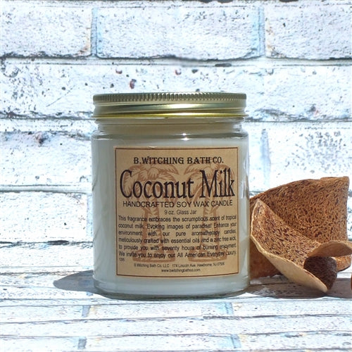 B. Witching Bath Company: Coconut Milk Handcrafted Soy Wax Candle