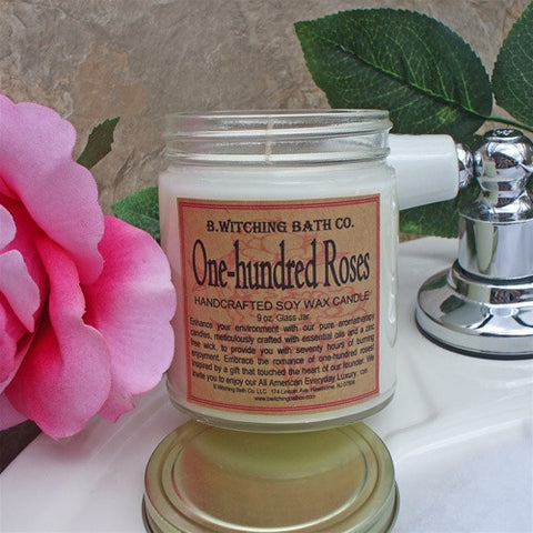 B. Witching Bath Company: One Hundred Roses Handcrafted Soy Wax Candle