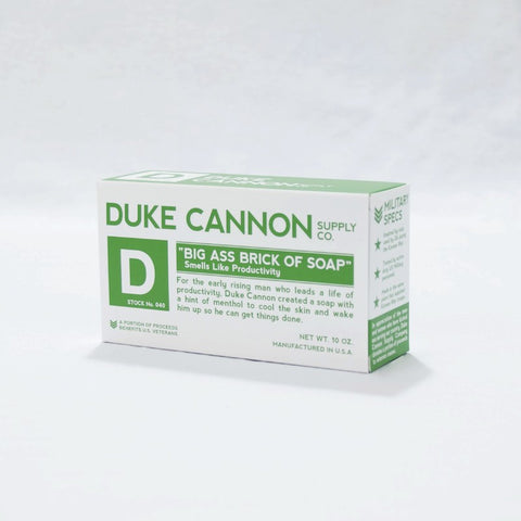 Duke Cannon Big Ass Soap: White Bar