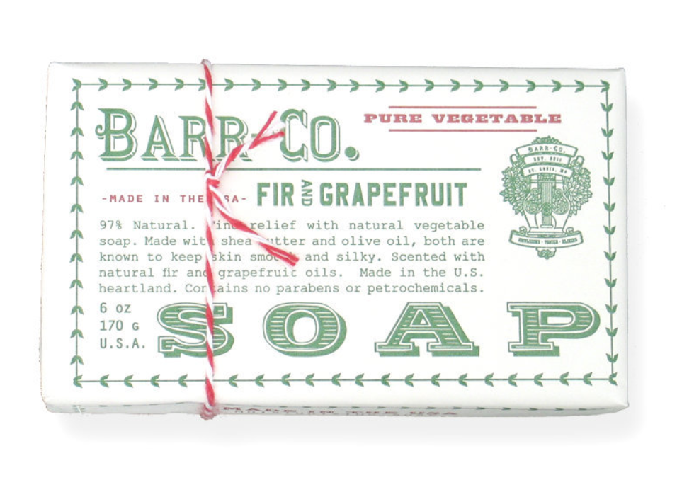 Barr Co. Bar Soaps - Fir & Grapefruit - 6oz