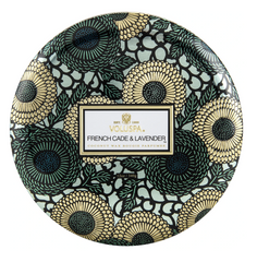 Voluspa French Cade Lavender- 3 wick tin Candle (12oz)