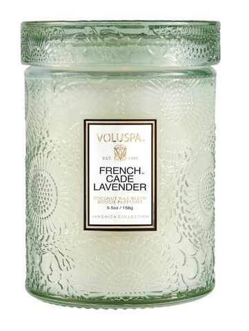 Voluspa French Cade Lavender- Small glass jar (5.5oz)