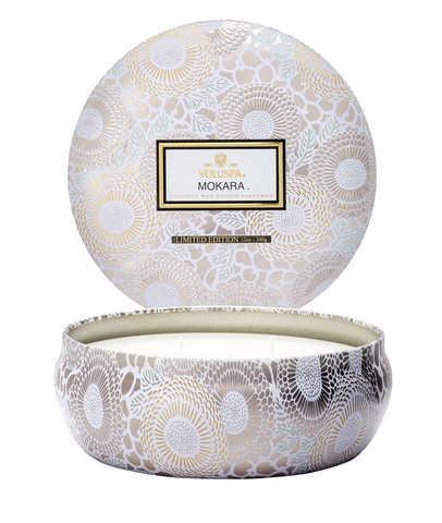 Voluspa Mokara- 3 wick tin Candle (12oz)