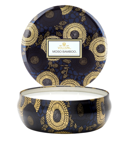 Voluspa Moso Bamboo- 3 wick tin Candle (12oz)