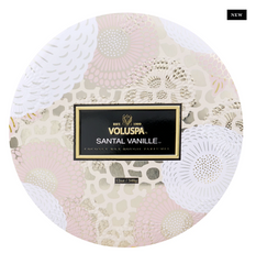 Voluspa Santal Vanilla- 3 wick tin Candle (12oz)
