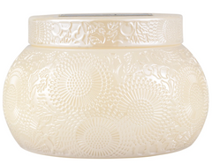 Voluspa Santal Vanilla- Embossed Glass Chawan Bowl (14oz)