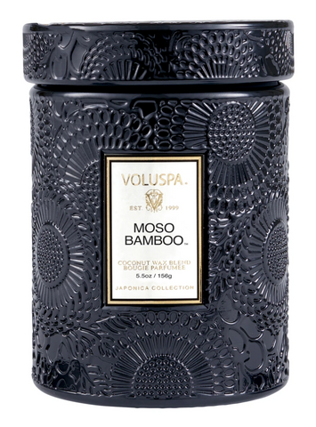 Voluspa Moso Bamboo- Small glass jar (5.5oz)
