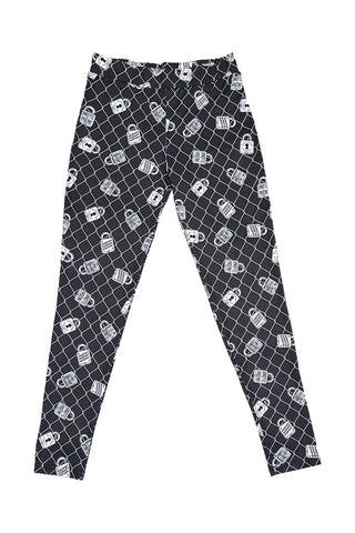 'FALL FAST' PRINT LEGGINGS