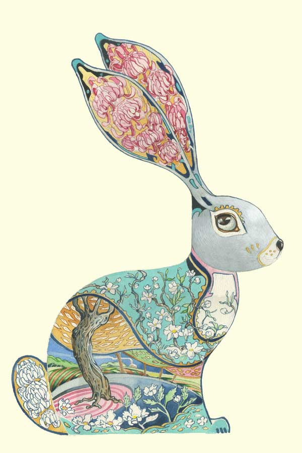 Bunny Design with floral design interior