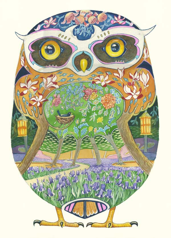 Owl Greeting Card The DM Collection