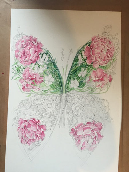 Butterfly in progress