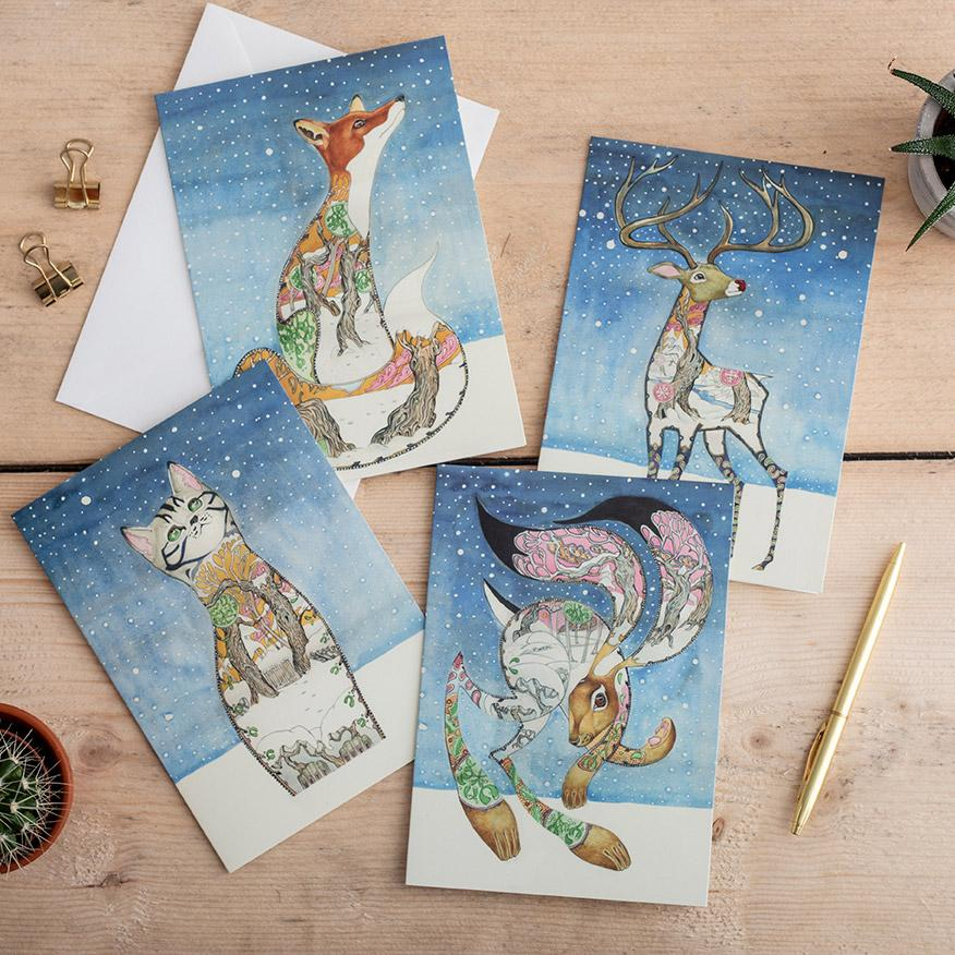 Animal Christmas cards