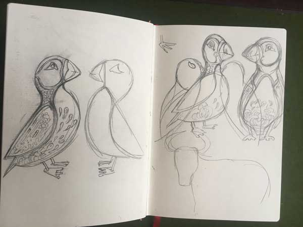 Puffin sketch - The DM Collection