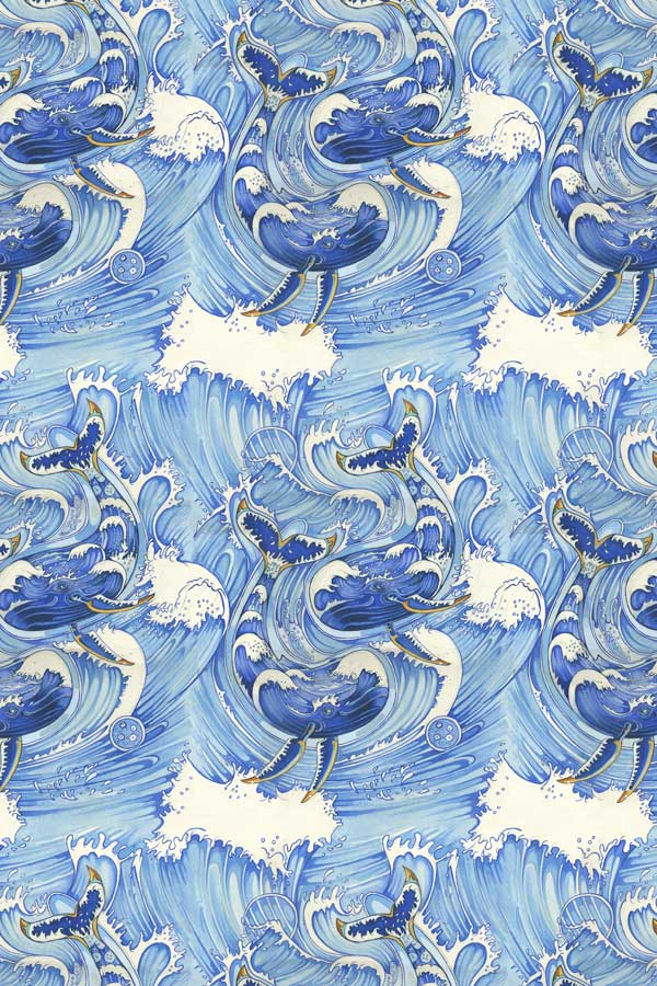 Whales repeat pattern- The DM Collection