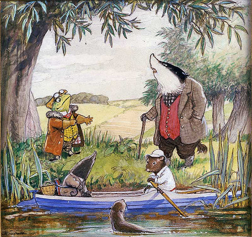 Wind in the Willows animal illustration