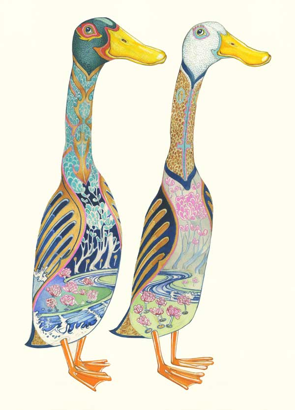 Runner ducks decorative painting