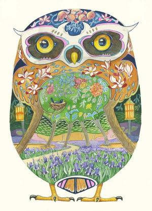 Owl in the Forest - Card