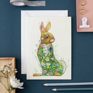 Bunny in a Meadow - Card - The DM Collection