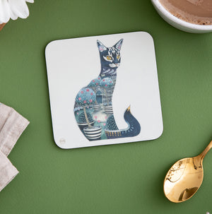 Cat at Night - Coaster - The DM Collection