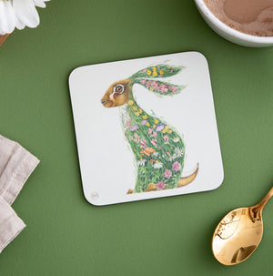 Hare in a Meadow - Coaster