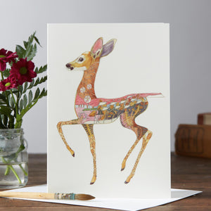 Fawn Greetings Card By Daniel Mackie, The DM Collection