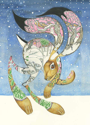 Hare in the Snow  - Card