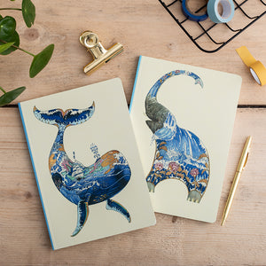 Perfect Bound Notebook - Whale - The DM Collection