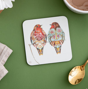 Two Robins - Coaster