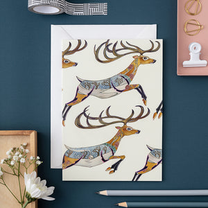 Leaping Reindeer - Card - The DM Collection