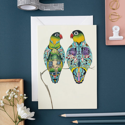 Lovebirds Greetings Card