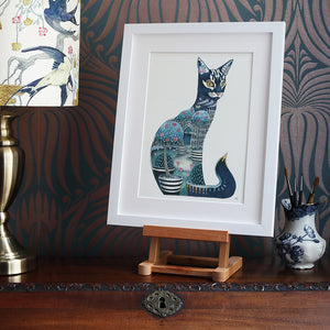 Cat at Night  - Print - The DM Collection