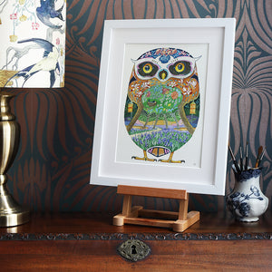 Owl in a Forest - Print
