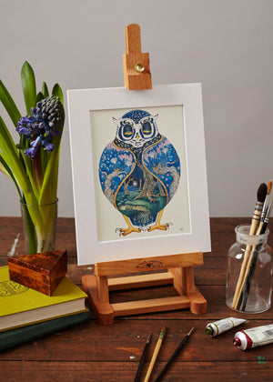 Owl at Night  - Print
