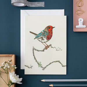 Robin in the Snow - Card - The DM Collection