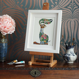 Hare with Flowers - Print