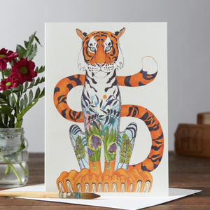 Tiger Greetings Card by Daniel Mackie-The DM Collection