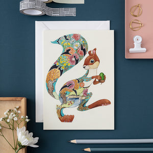 Turquoise Squirrel - Card - The DM Collection