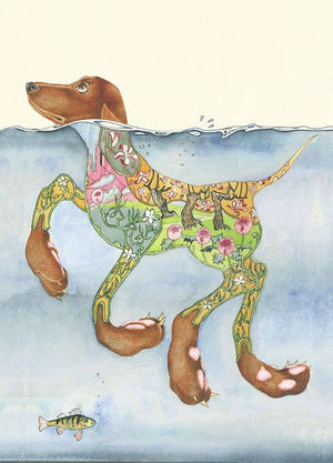 Doggy Paddle Card - Card