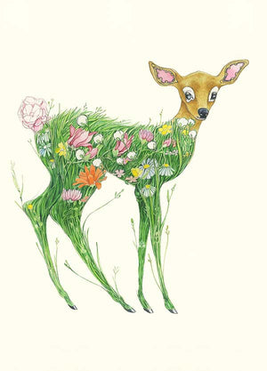 Fawn in a Meadow - Card - The DM Collection
