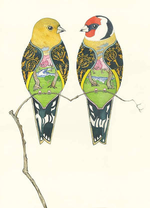 Goldfinches - Card