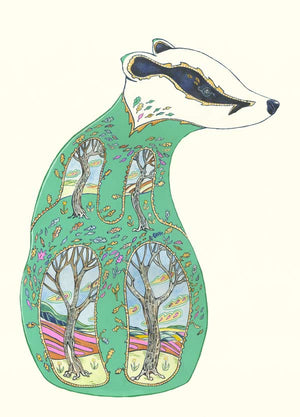 Green Badger - Print