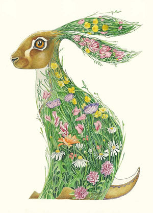 Hare in a Meadow - Card