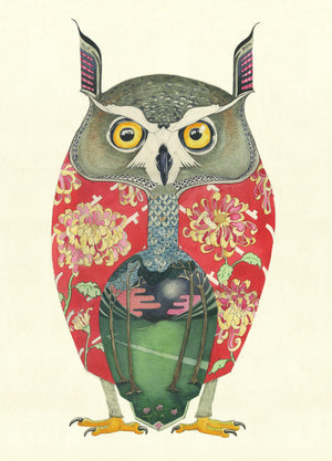 Long Eared Owl - Card