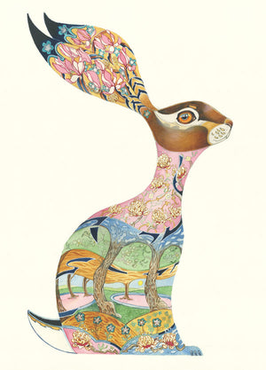 Pink Hare - Card
