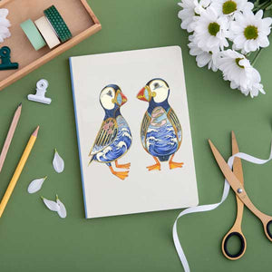 Perfect Bound Notebook - Puffins