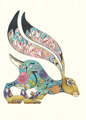 Turquoise Hare  - Print
