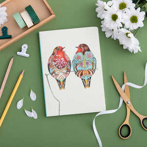 Perfect Bound Notebook - Two Robins